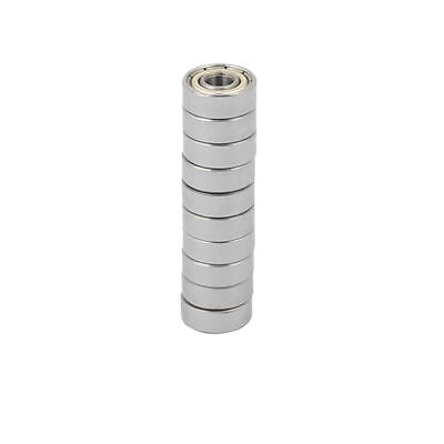 10pcs Metal Mute Deep Groove Sealed Shielded Ball Bearing Silver Tone 4x11x4mm