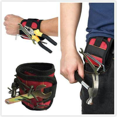 Magnetic Wristband Tool Belt Band Working Pouch Bag Screws Nails Nuts Bolts UK