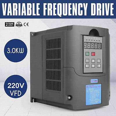 4HP 3KW Variable Frequency Drive VFD Capability Single Phase 220V 13A PROMOTION
