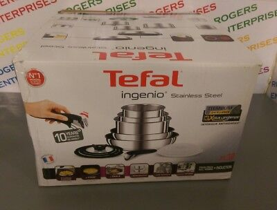 Tefal Ingenio Stainless Steel 13 Piece Pan set All Hobs/Induction New - box poor