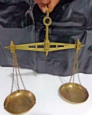 Vintage Gold Smith Weight Scale India WEIGHING UPTO 200 Gram Folding BRASS