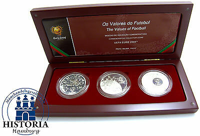 Portugal 3 x 8 Euro Silber 2003 PP UEFA Euro 2004- Passion-FairPlay- Celebration