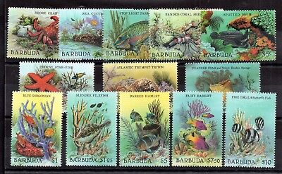 Barbuda 1987 Marine Sealife MNH set SG877-889 WS8875