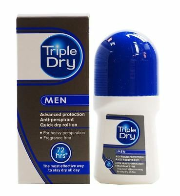 Triple Sèche Homme 72H Non-Fragrance Anti-Transpirant Roll-On 50ml