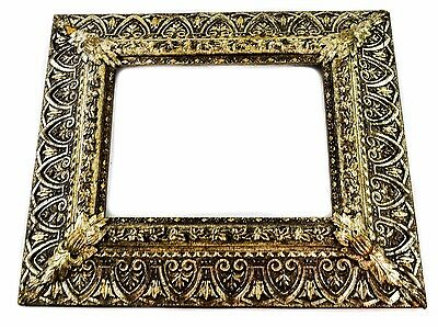 Antique Victorian Ornate Silver & Gold Wood And Gesso Large Frame
