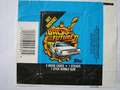 Topps Back To The Future 2 Wax Wrapper