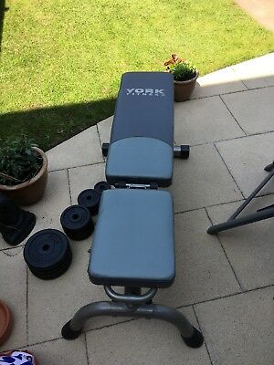 York Weight Bench And Dumbbells