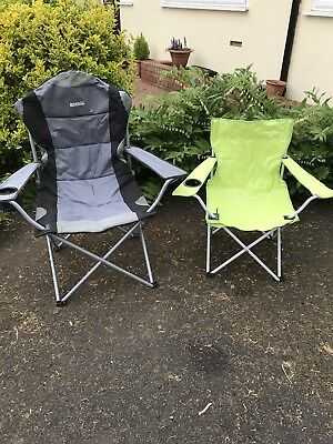 regatta kruza foldable camping chair with another camping chair