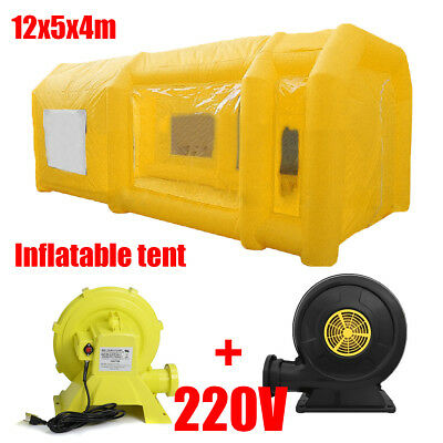 39x16x13FT Portable Giant Oxford Cloth Inflatable Car Spray Booth Paint Tent 12M