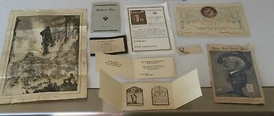 EPHEMERA - VARIOUS PAPERS FROM LONG AGO, DEATH REPLIES,BAPTISM,REMEMBRANCE etc.