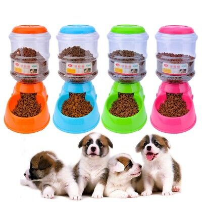 3.5L Large Automatic Pet Food Drink Dispenser Dog Cat Feeder Water Bowl D Gift
