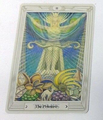 The Priestess II single tarot card Crowley Large Thoth Tarot 1996 AGM Agmuller
