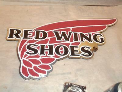 RED WING SHOES PLASTIC ADVERTISING STORE DISPLAY SIGN FOR WALL ~ Nice