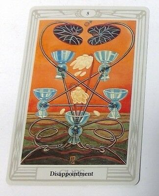 Disappointment 5 single tarot card Crowley Large Thoth Tarot 1996 AGM Agmuller