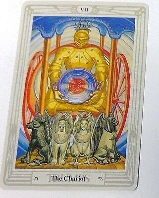 The Chariot VII single tarot card Crowley Large Thoth Tarot 1996 AGM Agmuller