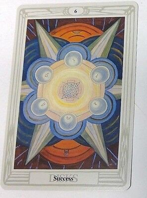 Success 6 Disks single tarot card Crowley Large Thoth Tarot 1996 AGM Agmuller