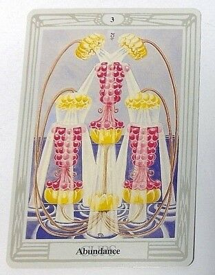 Abundance 3 Cups single tarot card Crowley Large Thoth Tarot 1996 AGM Agmuller