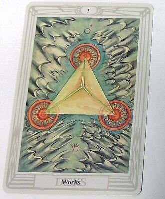 Works 3 Disks single tarot card Crowley Large Thoth Tarot 1996 AGM Agmuller