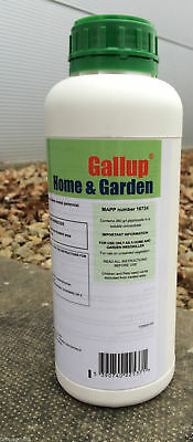 Gallup Home and Garden 1L Glyphosate Strong Weed Grass Killer (360g/l)