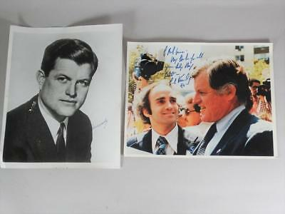 """2 Edward Moore """"Ted"""" Kennedy 8x10 Signed Photos"""