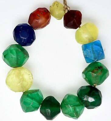 13 Mixed Old European Glass Beads - African Trade Beads