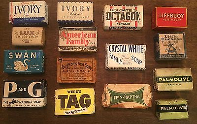 Lot of 15 Vintage Soaps (Many from the 30's & 40's)