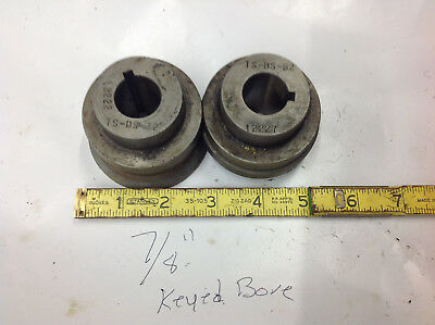 "2-Pc TS-DS  B2 & T2 Bead Crimper Roller Dies 7/8"" Key Bore 2.5"" Center of Shaft"