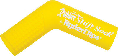 Ryder Clips Rubber Motorcycle Shift Sock Shifter Cover Yellow