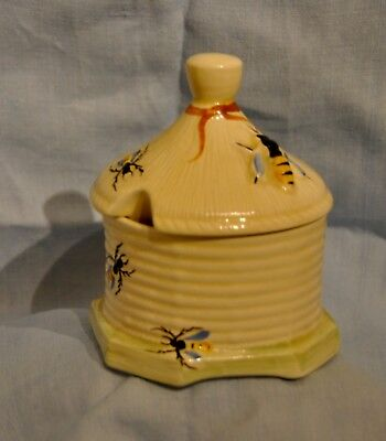 Crown Devon Bee Honey Pot Art Deco