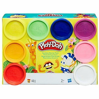 Play-Doh Rainbow Starter Pack A7923 - Contains 8x Compound Tub's totalling 448 G