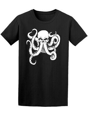 Tattoo Style Skull With Octopus Men's Tee -Image by Shutterstock