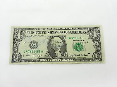 FR-1917-G 1988A Series Web $1 One Dollar Federal Reserve Note Good