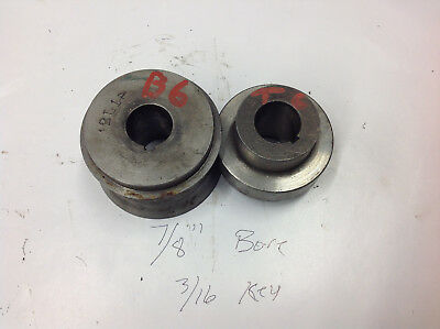 "2-Pc B6 & T6 Bead Crimper Roller Dies 7/8"" Bore, 3/16 Key  2.5"" Center of Shafts"