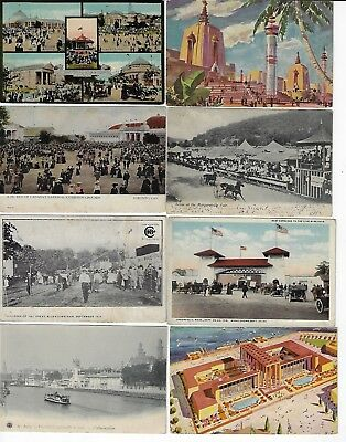 Lot of 8 Assorted State Fairs & Expositions Antique Postcards (Lot 4/9) REVISED!