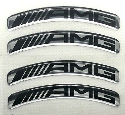 Mercedes AMG curved 3D Domed Sticker set. Size 78x10mm
