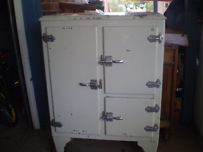 Antique Polar Air Metal Ice Box Original