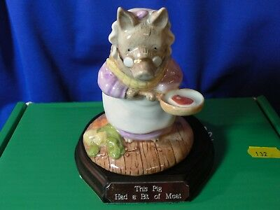 "BESWICK Beatrix Potter"" THIS PIG HAD A BIT OF MEAT BP9d """
