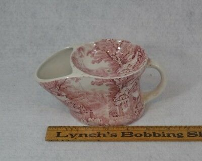 antique shave mug cup hopper style James Kent Foley 7 in. ware red transfer