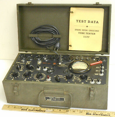 Vintage Signal Corps I-177 Transconductance Tube Tester s/n-1566 1944 - Working