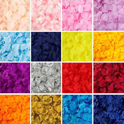 100-2000pcs Silk Rose Flower Petals Engagement Wedding Decoration Confetti DIY