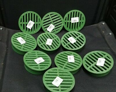 10 pack NDS 4 in. Green Polyolefin Round Round Grate