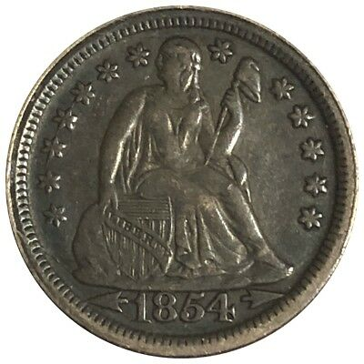 1854 Seated Liberty Dime *Arrows*