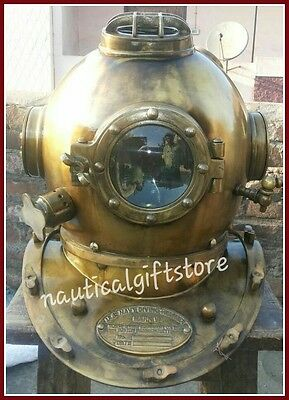 Antique Scuba SCA Divers Diving Helmet USNavy Mark V Deep Sea Marine Divers Gift