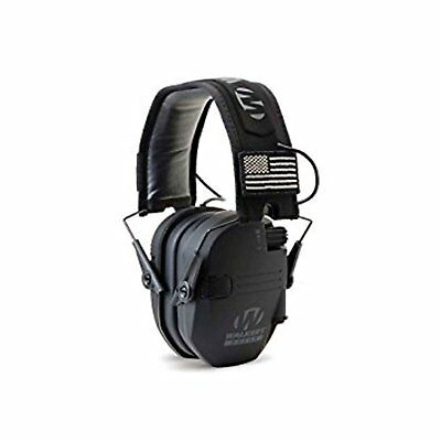 Walker's Hearing Protection 23 NRR Patriot Series Slim Shooter Muffs, Black