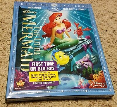 Disney The Little Mermaid Blu-ray DVD Diamond Edition BRAND NEW SEALED