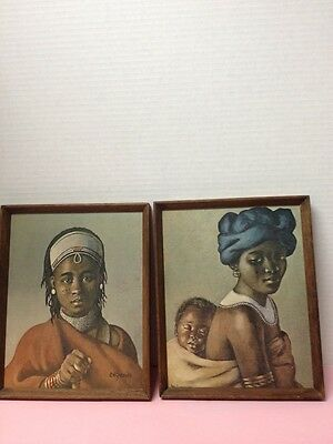 C.H. Greaves Vintage Prints Tembu Mother and Child & A Chezi Dandy South Africa
