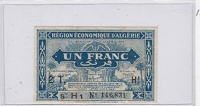 Kappyscoins Id10730 French Algeria Post Ww2 1949 One Un Franc Bank Note  Cheep
