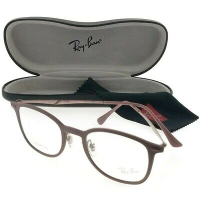 7abb875df1 Ray Ban RB7051-5690 Round Unisex Bronze Frame Clear Lens Genuine Eyeglasses  NWT