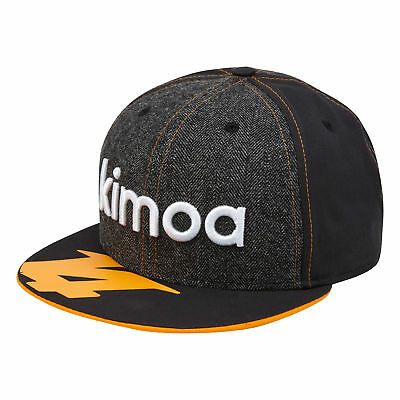 McLaren Official 2018 Fernando Alonso Kimoa Cap New Era 9FIFTY Anthracite  Mens 48fa0571975f