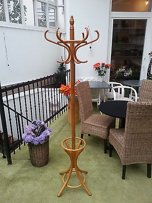 Peg wood hanger hat and coat stand rack Hall Storage umbrella Hook Antique Style